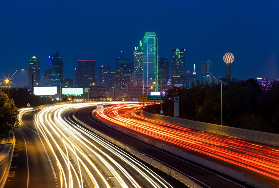 20978363 – dallas downtown at night